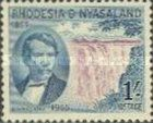 Rhodesia and Nyasaland, 15.6.1955, The 100th Anniversary of the Discovery of Victoria Falls, No.18, 1Sh blue/brownish violet. Stamped 0,55 USD, Mint Condition 0,83 USD.