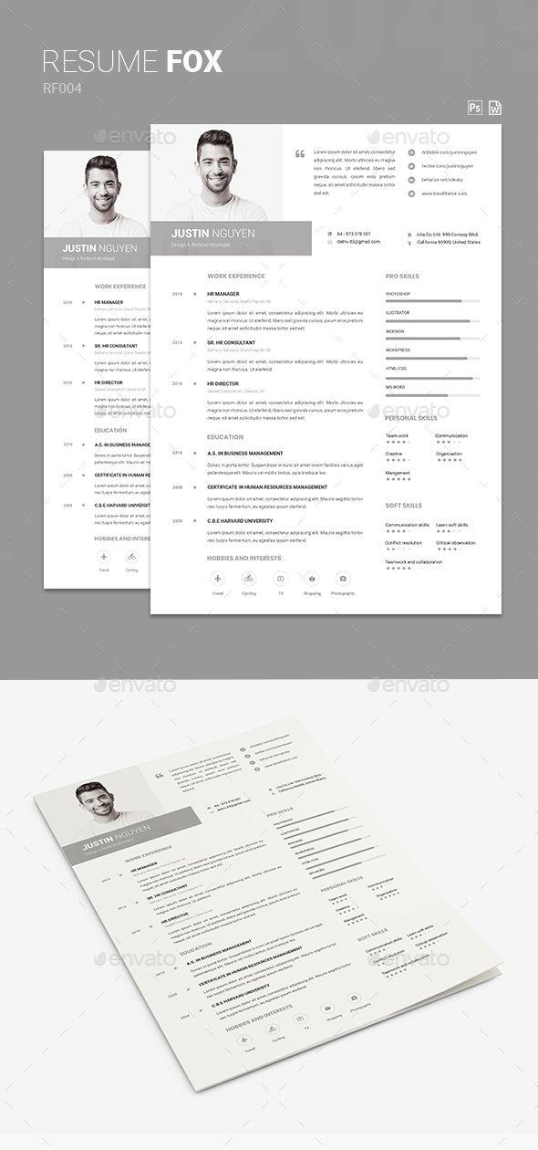 Resume #white #elegant resume  • Download here → https://graphicriver.net/item/resume/21407026?ref=pxcr