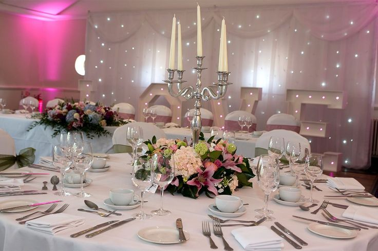 How ethereal are these twinkly fairy light curtains and marquee lights at Silvermere Inn on the Lake in Surrey.