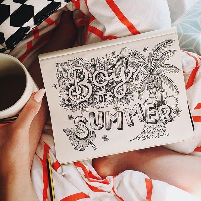 One of the best summery pop songs e v e r ☀️ #boysofsummer #handlettering  #handdrawntype #typegang #lettering