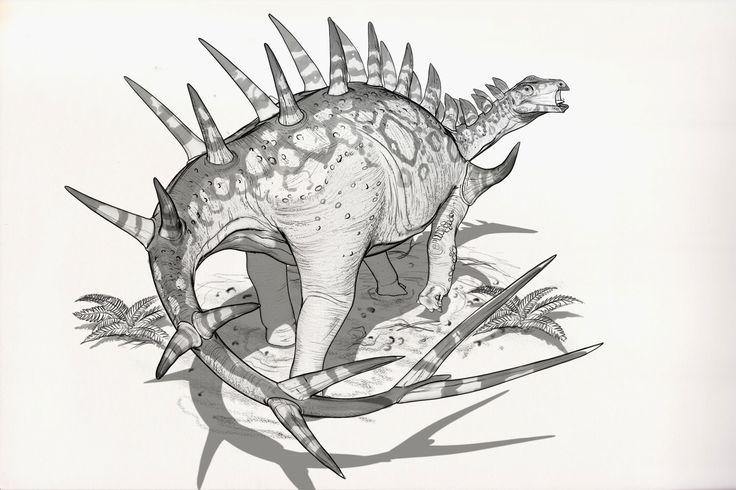 Draw Dinovember Day 4 Kentrosaurus, Raul Ramos on ArtStation at https://www.artstation.com/artwork/Y8vnP