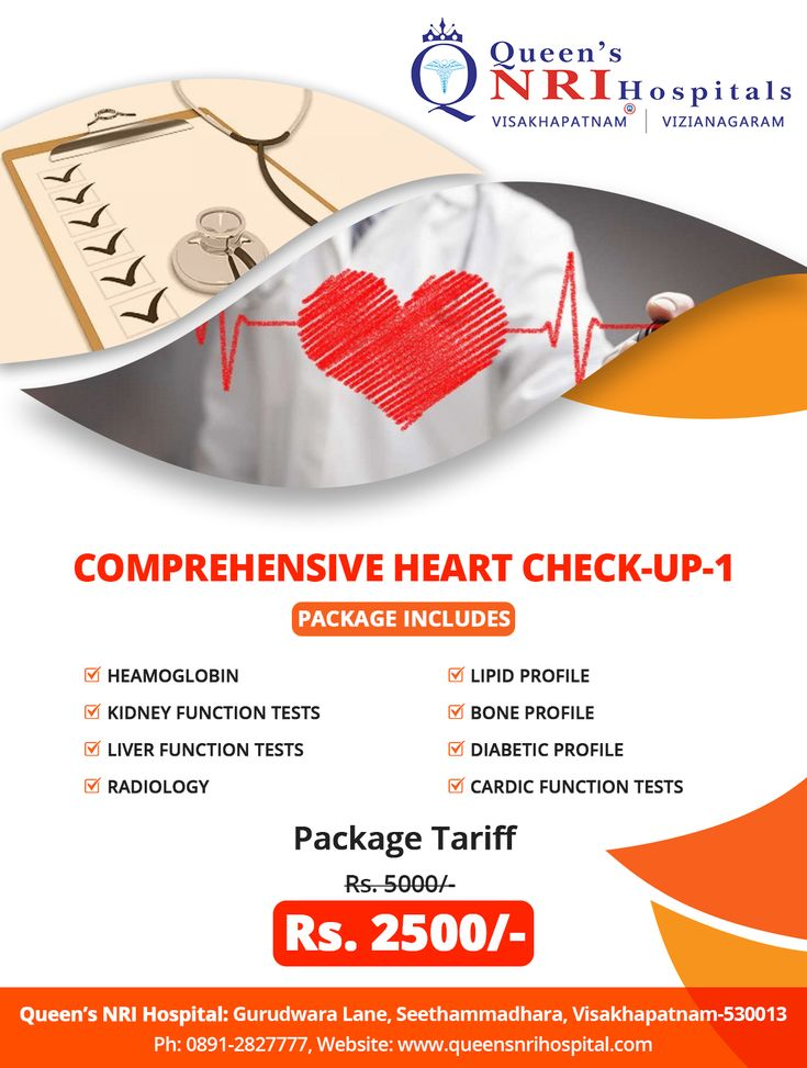 Comprehensive Heart Checkup Package Tariff Rs. 2500