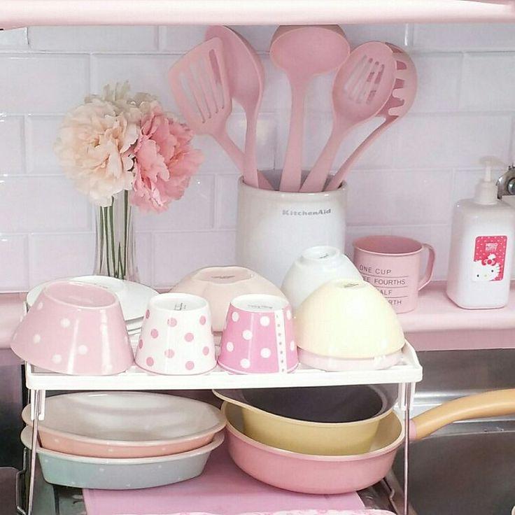 Pink/パステル/ピンク/キッチンのインテリア実例 - 2016-03-03 19:17:45   RoomClip(ルームクリップ)