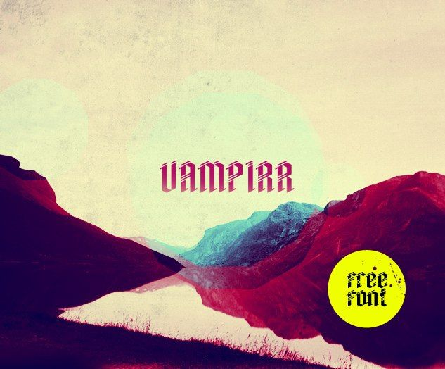 Vampirr #ttf #латиница (Free font) Автор - David Alexander Slaager