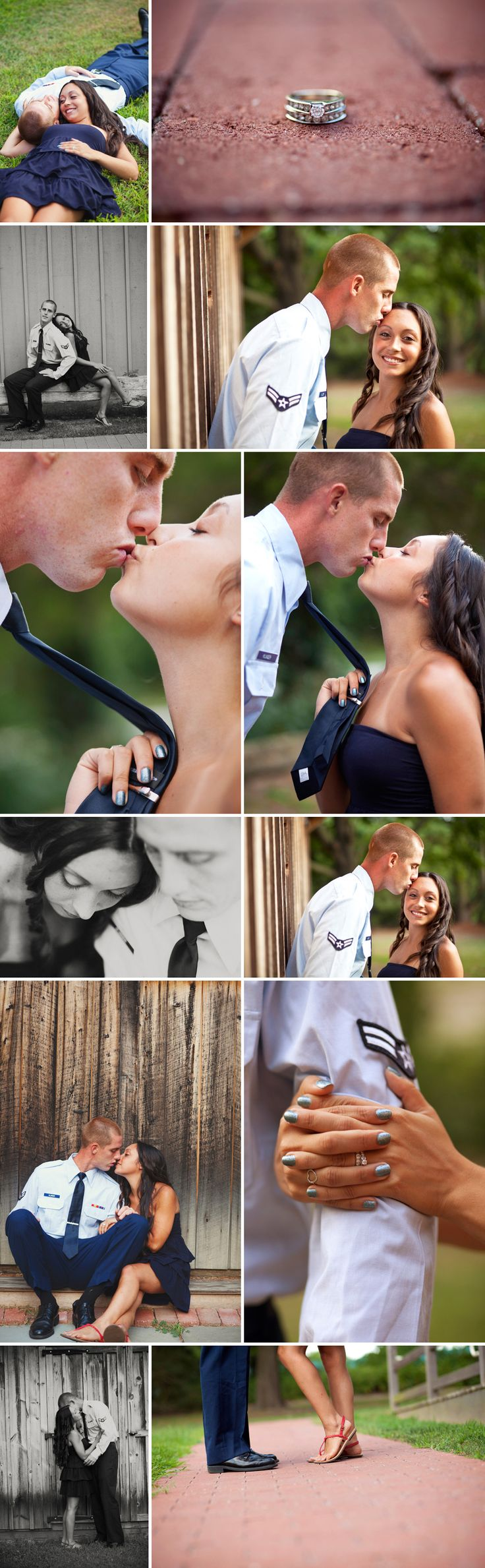 Military Air Force couple pictures. So cute!!! Next photo shoot will be in his blues!!
