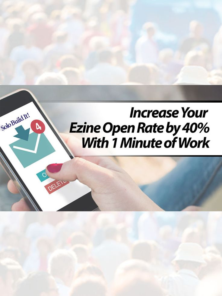Increase Your Newsletter Open Rate by 40% With 1 Minute of Work #EmailMarketing #OnlineBusiness #BlogTips #BlogLife