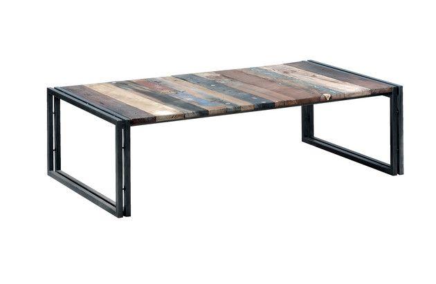 Earth de Fleur Homewares - Recycled Industrial Coffee Table 'EDITO' Rectangle 120CM