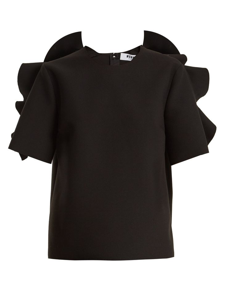 Click here to buy MSGM Ruffle-trimmed crepe top at MATCHESFASHION.COM