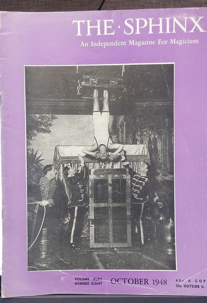 Vintage The Sphinx HARRY HOUDINI CHINESE WATER TORTURE ISSUE 1948
