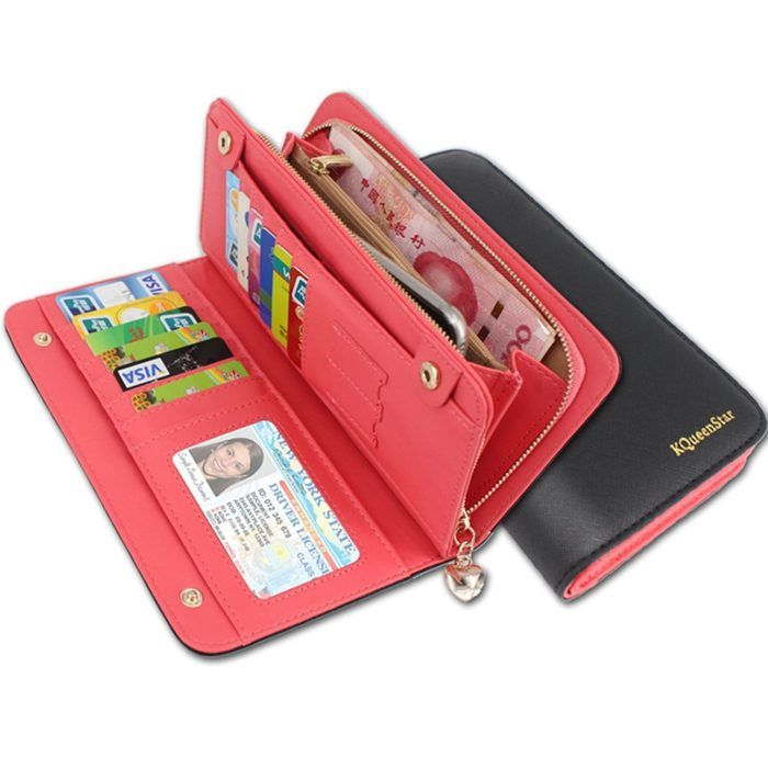 KQueenStar Women Lady Leather Wallet Purse Credit Card Clutch Holder Case   WOMAN SHOP