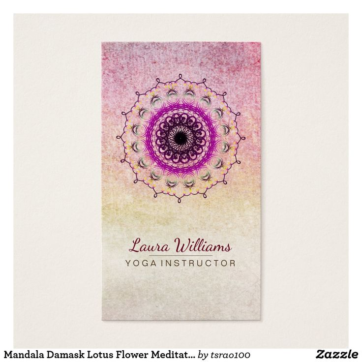 66 best Damask Mandala Business Cards images on Pinterest ...
