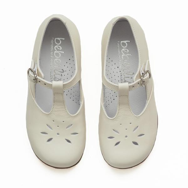 Beberlis crema t-stropp – Hola Lola   Beautiful kidsshoes made in Spain