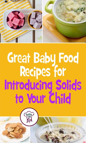Great Baby Food Recipes for Introducing Solids to Your Child - This is a must pin! When it comes to starting your child out on food, remember that according to the World Health Organization (WHO), kids can start eating foods by 6 months. However, recent researchers has suggested that there is a window between 4 to 7months, where introducing foods can help stave off picky eating. This is a must share! #fmk #firstfoods #babyfood #feeding