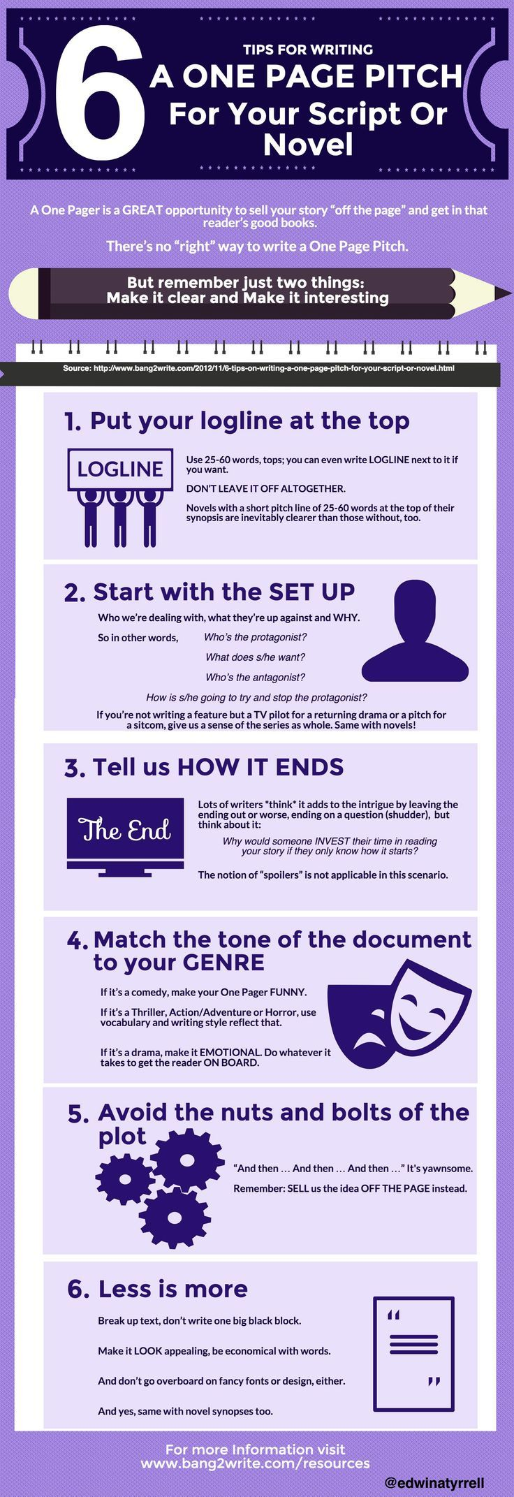 Writing a one page pitch for your screenplay