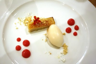 """Tonka Bean """"Bread Pudding"""", Shortbread Cookie, Red Currant, Rose ..."""