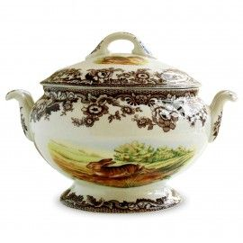 WOODLAND SOUP TUREEN Soup tureen, Woodland design, by Spode England.