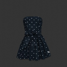 this Dotted dress has Georgia southern written all over it! fun &cute