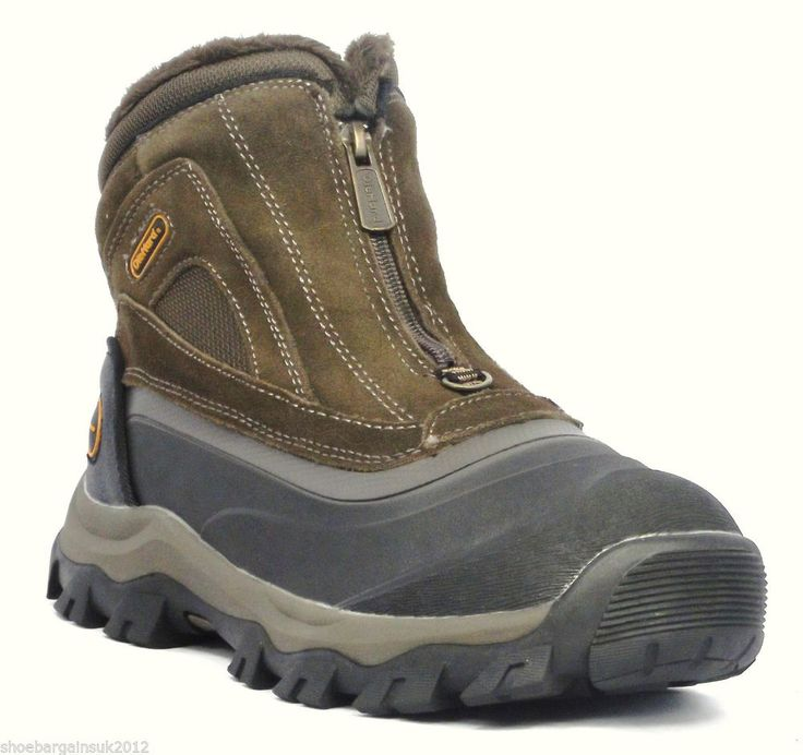 Mens Walking Hiking Trekking Casual Leather ZipUp Brown Waterproof  Boots UK7-11  Now from only £19.99 with fast and free postage!