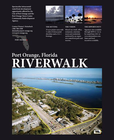 City of Port Orange - Economic Development - #Proposed #RiverwalkPortOrange #JoyceMarshRealEstate