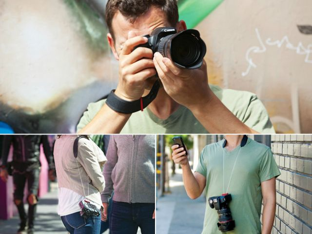 Joby's 3-Way Camera Strap is the only comprehensive solution that allows you to comfortably carry your DSLR or Compact System Camera as a wrist, shoulder or neck strap. GetdatGadget.com/joby-3-way-camera-strap/