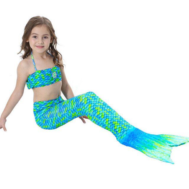 Mermaid Tails for Swimming, Mermaid Costume, Mermaid tails for kids, Green Blue Mermaid Tail
