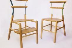 Sedia Suppergiù - sedia in legno sedia scaletta trasformazione sedia in scaletta