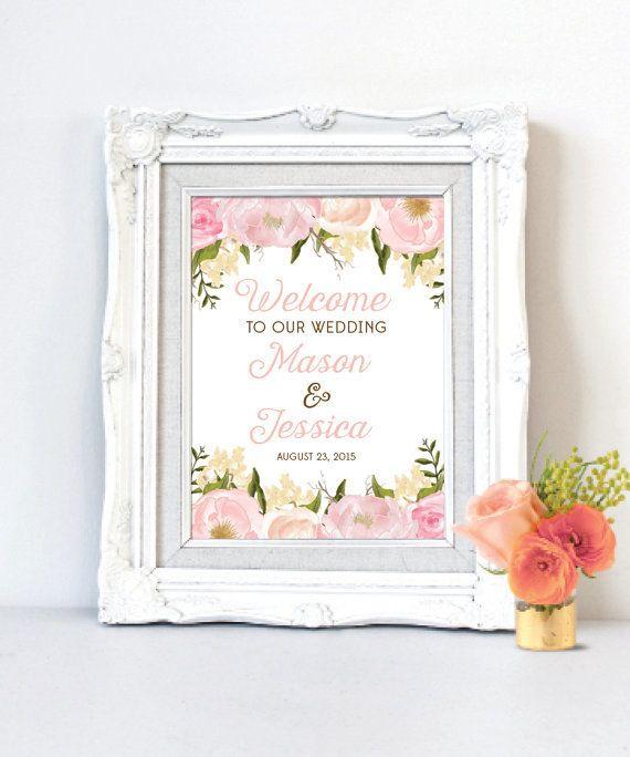 鮮やかなピンクのバラが会場を彩ります♡キュートな結婚式の参考にしたいパステル色のウェルカムボードまとめ一覧♡