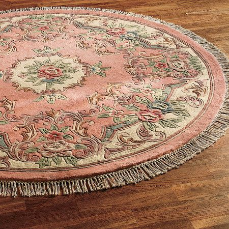 Shanice Aubusson Round Area Rugs