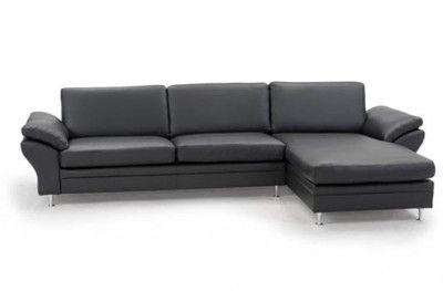 Multibygg couch 3 seats chaiselong black leather danish design hjort knudsen www.helsetmobler.no