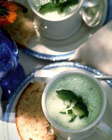 Chilled Cucumber Mint Soup - Martha Stewart Recipes