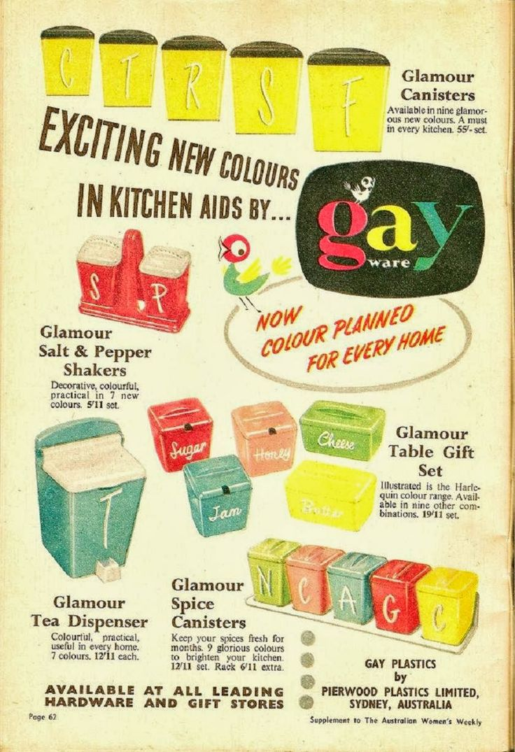 27 best vtg kitchen gay ware images on pinterest gay vintage gay ware canisters from australia just too cute for words