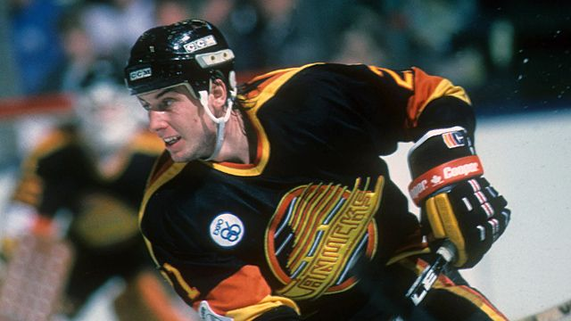 Cam Neely when he was a Vancouver Canuck