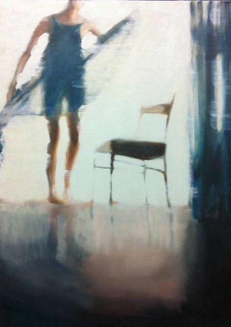 Dancing woman by Cecilia Kok. Oilpaint (80x60 cm)