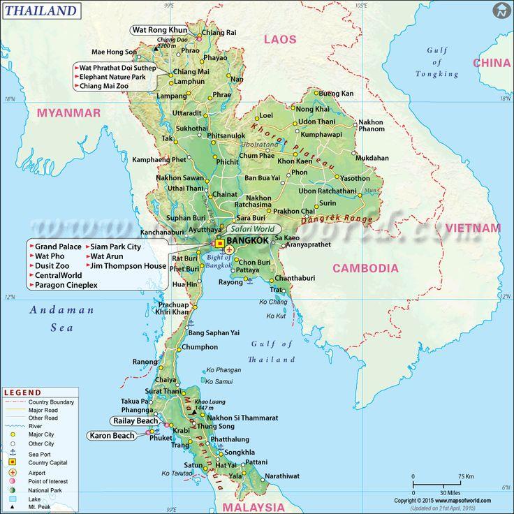 Assez Plus de 25 idées tendance dans la catégorie Thailande carte sur  HZ88