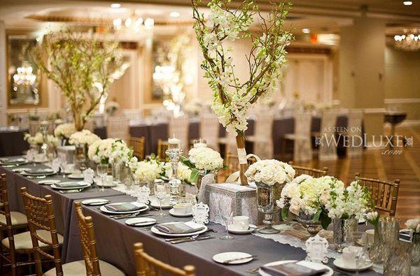 TALL BRANCHES Long Table Wedding Centerpiece Ideas Xavier