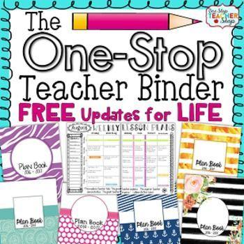 Teacher Binder {Editable} FREE Updates for Life! by One Stop Teacher Shop | Teachers Pay Teachers