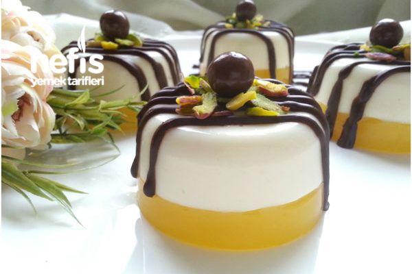 Portakallı Sütlü Tatlı (Çok Hafif Ve Lezzetli)