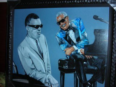 Ray Charles colored pencil