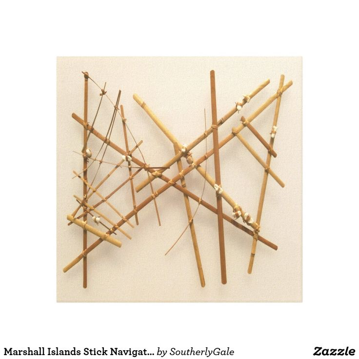 Marshall Islands Stick Navigation Chart Canvas Print