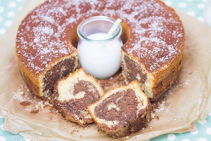 Rezept für einen Kokos-Nutella-Marmorkuchen - die Variation eines Klassikers.