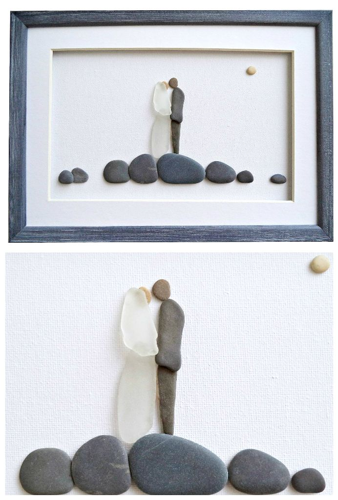 #wedding #seaglassart #weddinggifts #pebbleart #brideandgroom #weddingart #beachglass #stoneart #shopetsy #beachcombing #coastaldecor #beachhousedecor #shophandmade #handmade #weddinggiftideas