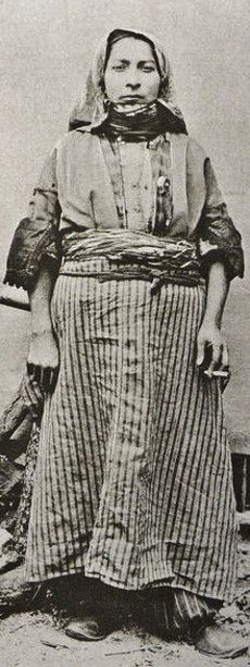 An Armenian woman in daily outfit, from Zeytun (actual Süleymanlı, to the North of K.Maraş), 1900.