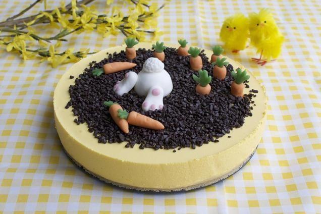 Paaskwarktaart                              -                                  Voor een vrolijk Pasen! Maak van een eenvoudige kwarktaart een mooi kunstwerkje