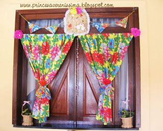 Princesa Vereníssima: Festas Juninas - decoração com chita e ideias. Comemorando o centenário de Luiz Gonzaga.