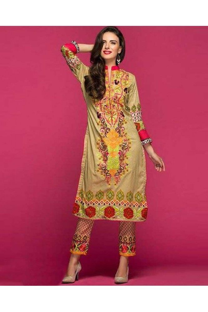 Show your creativity by getting this multi coloured Pakistani Lawn suit material this season. Stitch it accordingly to turn heads. #womensethnicwear #dressmaterialforwomen #pakistanilawnsuitforwomen https://trendybharat.com/women/ethnics-wear/women-ethnic-wear-pakistani-lawn-suits/multicoloured-full-sleeved-salwar-suit-set-tn06b