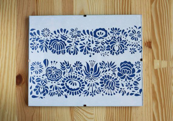 Hungarian Folk Art Papercut A4 by PaperartByAnni on Etsy