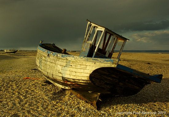 Old Boat at Sunset - Kent
