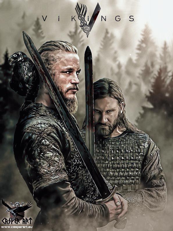 Vikings series Ragnar and Rollo