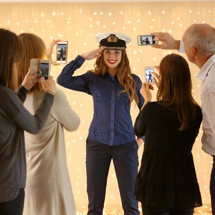 Everyone's a photographer! The Kettlewell Colours Christmas photoshoot - this navy lace satin shirt looks fab! www.kettlewellcolours.co.uk
