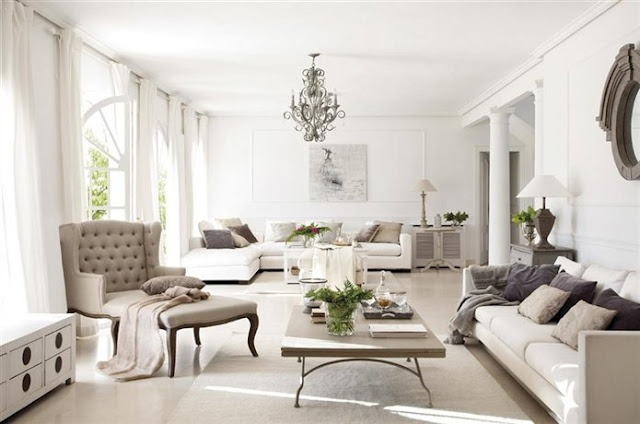 Loving this colour scheme of Taupe on White